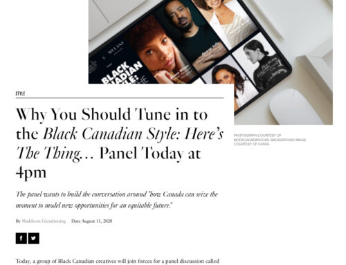 Black Canadian Style: Here's The Thing…